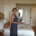 Del Mar Manager Lynn Murtagh pleasantly surprised with her accommodations.